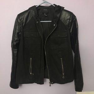 🖤 black leather & denim jacket 🖤